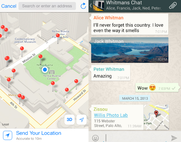 Sharing-Whatsapp-location
