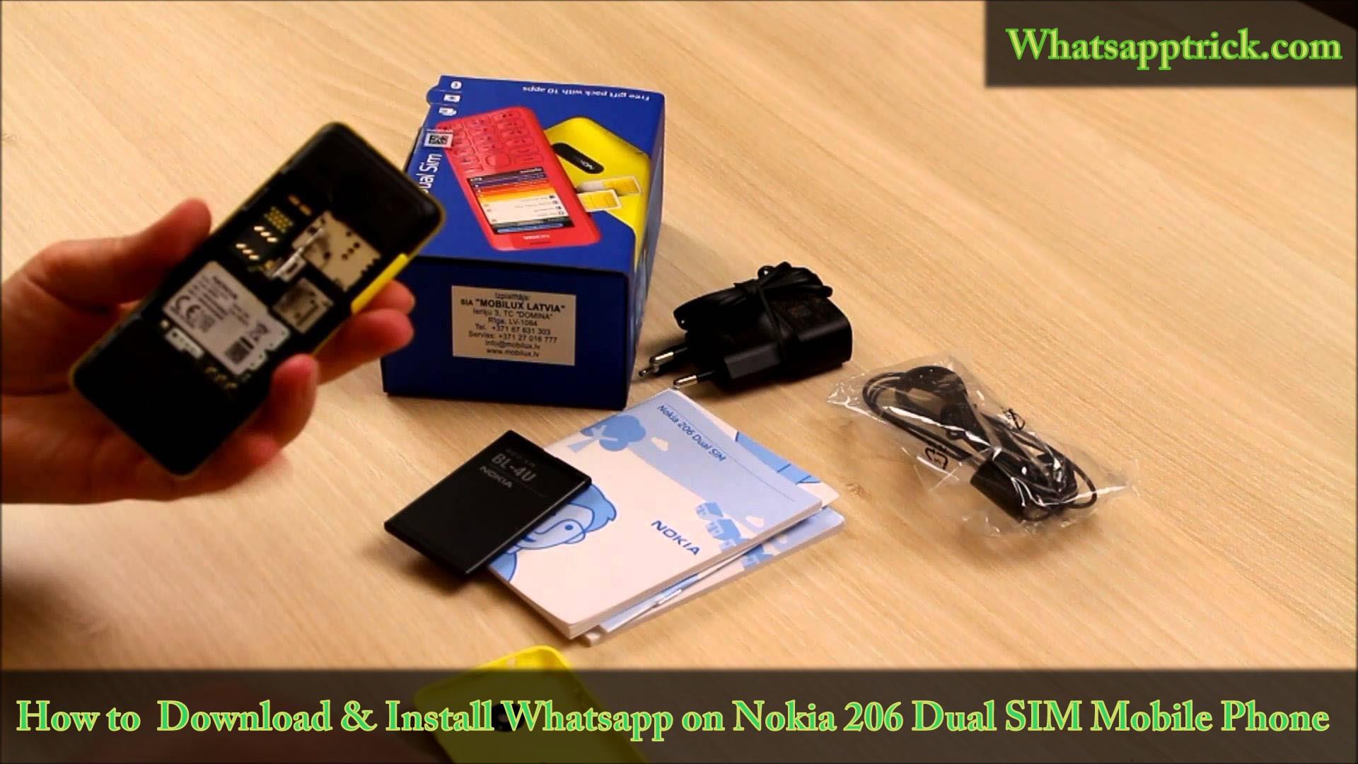 Unboxing Nokia 206 Dual SIM Mobile Phone